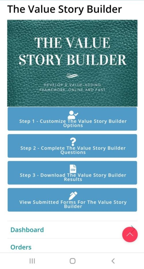 The Value Story Builder