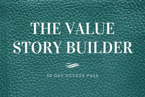 The Value Story Builder - 30 day access renewal